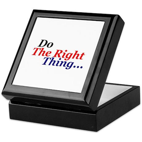 Do the right thing! Keepsake Box