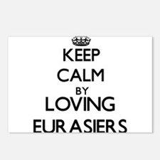 Keep calm by loving Euras Postcards (Package of 8)