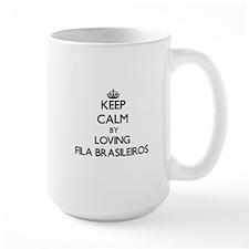Keep calm by loving Fila Brasileiros Mugs