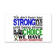Autism How Strong We Are Rectangle Car Magnet