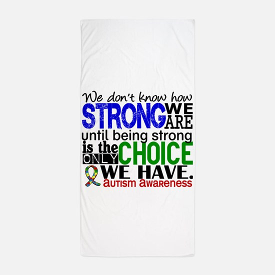 Autism How Strong We Are Beach Towel