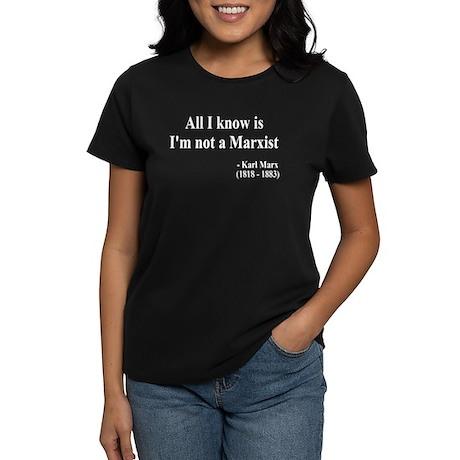 Karl Marx Text 10 Women's Dark T-Shirt
