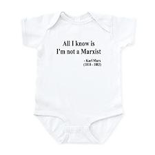 Karl Marx Text 10 Infant Bodysuit