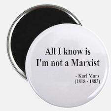 Karl Marx Text 10 Magnet