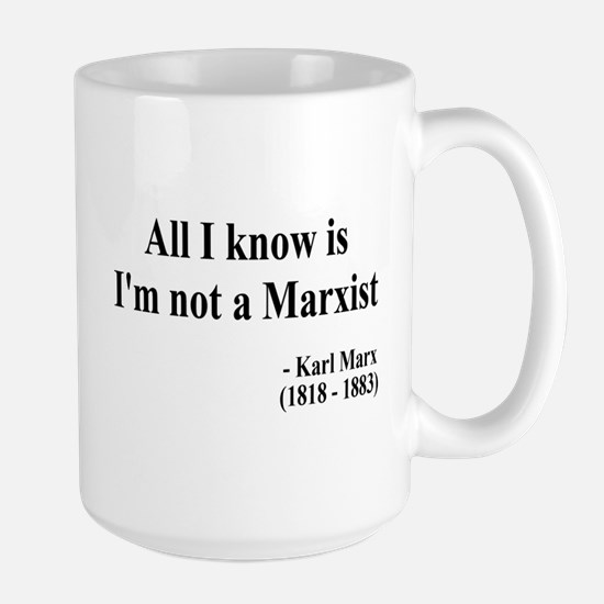 Karl Marx Text 10 Large Mug
