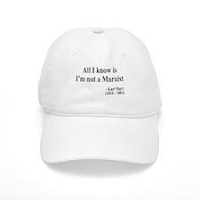 Karl Marx Text 10 Baseball Cap