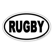 Rugby Oval Stickers