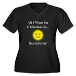 Christmas Su Women's Plus Size V-Neck Dark T-Shirt