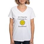 Christmas Sunshine Women's V-Neck T-Shirt