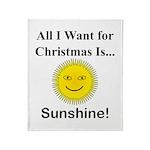 Christmas Sunshine Throw Blanket
