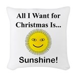 Christmas Sunshine Woven Throw Pillow