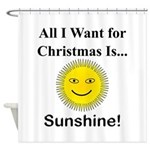 Christmas Sunshine Shower Curtain