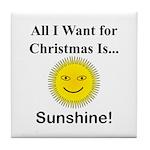 Christmas Sunshine Tile Coaster