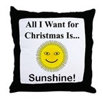 Christmas Sunshine Throw Pillow