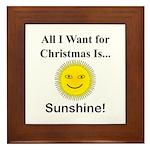 Christmas Sunshine Framed Tile