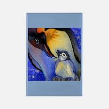 Devoted Dad Penguin Rectangle Magnet