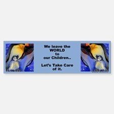 "Devoted Dad Penguin ""We leave.."" Bumper Bumper Bumper Sticker"
