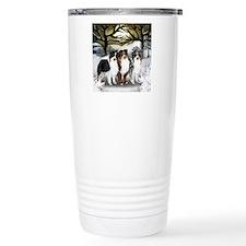 Unique Australian shepherd dog blue merle Travel Mug