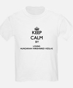 Keep calm by loving Hungarian Wirehaired V T-Shirt