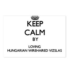 Keep calm by loving Hunga Postcards (Package of 8)