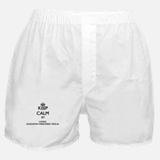 Keep calm by loving Hungarian Wirehai Boxer Shorts