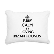 Keep calm by loving Ibiz Rectangular Canvas Pillow