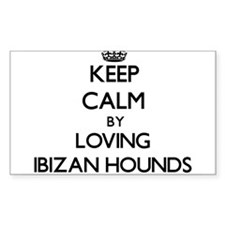 Keep calm by loving Ibizan Hounds Decal