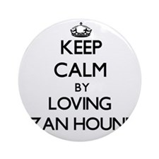 Keep calm by loving Ibizan Hounds Ornament (Round)