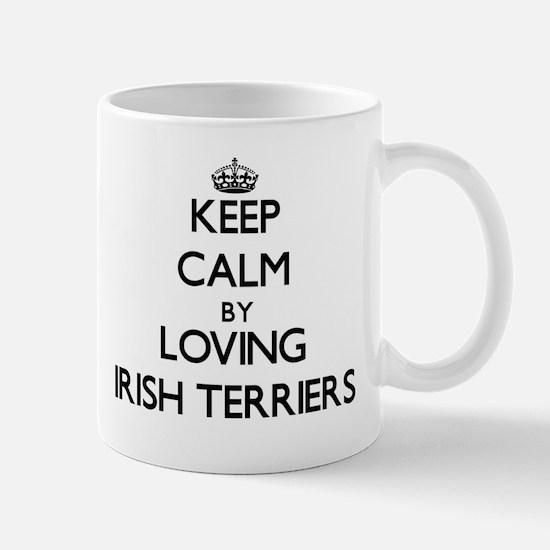 Keep calm by loving Irish Terriers Mugs