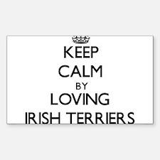 Keep calm by loving Irish Terriers Decal