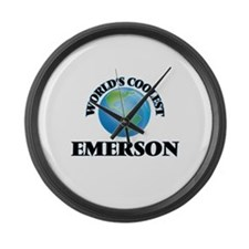 World's Coolest Emerson Large Wall Clock