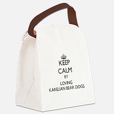 Keep calm by loving Karelian Bear Canvas Lunch Bag