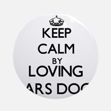 Keep calm by loving Kars Dogs Ornament (Round)
