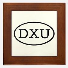 DXU Oval Framed Tile