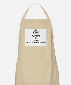 Keep calm by loving Lagotto Romagnolos Apron