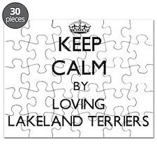Keep calm by loving Lakeland Terriers Puzzle