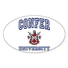 CONFER University Oval Decal