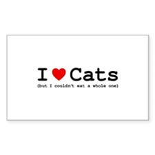 I Love Cats - But I Couldn't E Decal