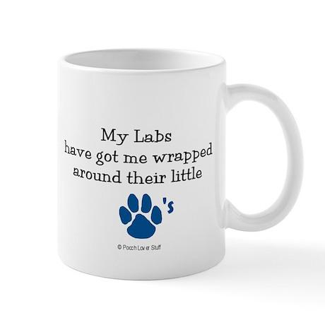 Wrapped Around Their Paws (Lab) Mug