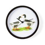 Pomeranian Geese Wall Clock