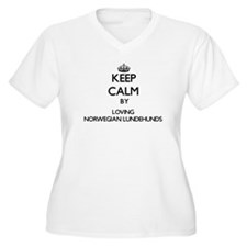 Keep calm by loving Norwegian Lu Plus Size T-Shirt