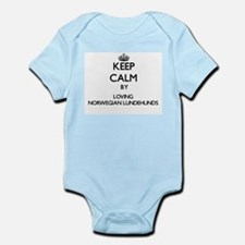 Keep calm by loving Norwegian Lundehunds Body Suit