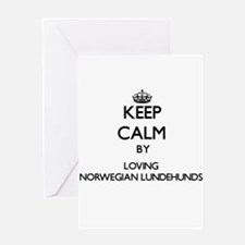 Keep calm by loving Norwegian Lunde Greeting Cards