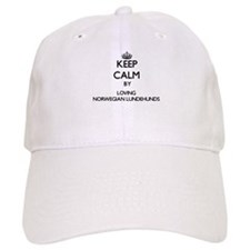 Keep calm by loving Norwegian Lundehunds Baseball Cap
