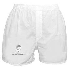 Keep calm by loving Norwegian Lundehu Boxer Shorts