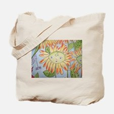 Whimsical yellow daisy and spider Tote Bag