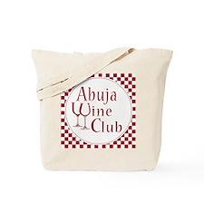 Wine Club Red Checks Tote Bag