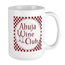 Wine Club Red Checks Mugs