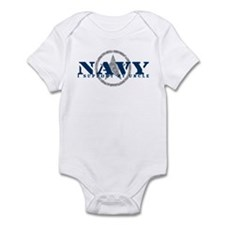 Navy - I Support My Uncle Infant Bodysuit