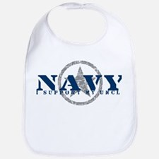 Navy - I Support My Uncle Bib